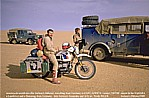 1987/88_NIGER_SAHARA_Jochen meets german travellers with a Landrover and a Hanomag_what a lucky chance ...