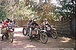 1987/88_CENTRAL AFRICAN REPUBLIK_Bangui_Jochen with BMW meets 2 other crazy german BMW bikers_Alfred and Werner_and the denish girl Iben ... funny days together