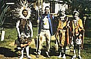 close Thomson Falls_fun with 3 Kikuyu warriors, playing tribe music_they asked me to join their tribe and become a Kikuyu warrior_motorcycle-trip through Eastern-, Central- and Southern AFRICA (Nairobi-Capetown) 1990-91_Jochen A. Hübener
