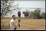 1992_RUANDA_motorcycle-world-traveller Jochen A. Hübener at Lake Akagera, watching elefants_after this picture Jochen's friend Andrè left him back_he said it was a joke