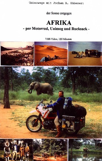 cover of my VIDEO 'AFRICA by motorcycle, Unimog and backpack'