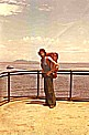 Jochen with his backpack_by ship along the PACIFIC coast_in COSTA RICA 1974