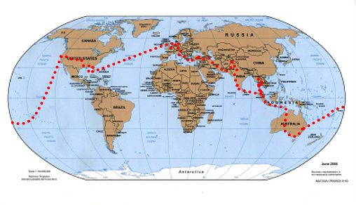 around the WORLD by motorcycle_52 000 km in 445 days through 4 continents respectively 15 countries_summary - days and places