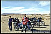 meeting a swiss couple with two motorcycles on their way to INDIA_some days together_ here close to ZAHEDAN / Eastern IRAN, close to the border to PAKISTAN_November 1995_my motorcycle-world-trip 1995/96